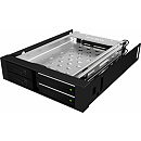 Raidsonic Icy Box Mobile Rack for 2x 2.5'' SATA HDD or SSD, Black