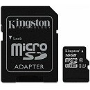 Kingston microSDHC, 16GB, Class 10 UHS-I + SD Adapter