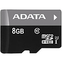 A-Data microSDHC, 8GB, Class 10 + SD ADapter