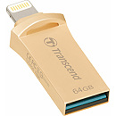 Transcend JetDrive Go 500, 64GB, USB3.1, Lightning, Gold
