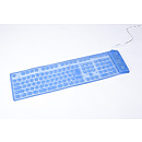 Gembird KB-109FEL1-BL-US, Flexible backlight keyboard, USB, PS/2, Blue