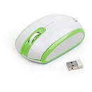 Gembird MUSW-105-G, Wireless, White/Green