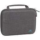 Rivacase Canvas Case, Grey (New)