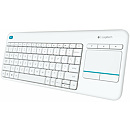 Logitech Wireless Touch Keyboard K400 Plus, White, US