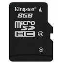 Kingston microSDHC, 8GB, Class 4