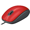 Logitech M110 Silent, USB, Red
