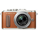 Olympus PEN E-PL8, Brown/Silver + 14-42mm EZ Pancake MILC