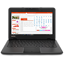 "Lenovo 100e Black, 11.6"" HD, Celeron N3350, 4GB, 64GB eMMC, Windows 10 S"