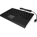 Raidsonic IcyBox KeySonic Mini Keyboard, Smart Touchpad, USB2.0, Black