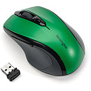 Kensington Pro Fit Wireless Mid-Size Mouse, Green/Black