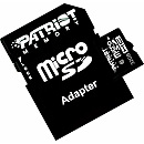Patriot microSDHC, 32GB, Class 10 + SD Adapter