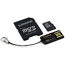 Kingston microSDHC, 16GB, Class 10 + Adapters