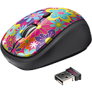 Trust Yvi Wireless Mouse, Flower Power