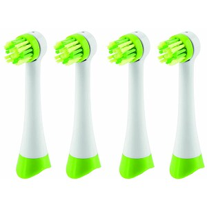 ETA Toothbrush Heads, White/Green