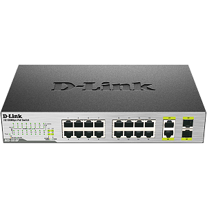 D-Link DES-1018P, 16-port, 1000Mbps, Fast Ethernet Unmanaged Switch