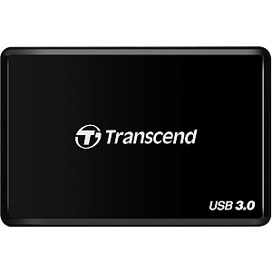 Transcend RDF2, USB3.0 Card Reader, Black