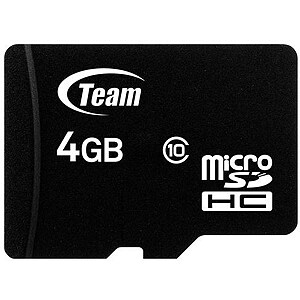 TeamGroup Team Group memory card Micro SDHC 4GB Class 10 +Adapter