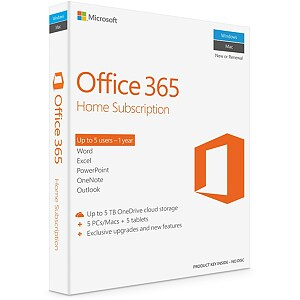Microsoft Office 365 Home for Mac, ENG, 1 year subscription