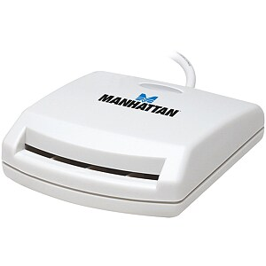 Manhattan Smart Card Reader, USB, White