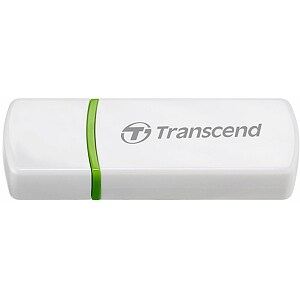 Transcend RDP5, USB2.0 Card Reader, White