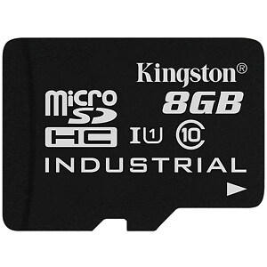 Kingston microSDHC, 8GB, Class 10 UHS-I, Industrial