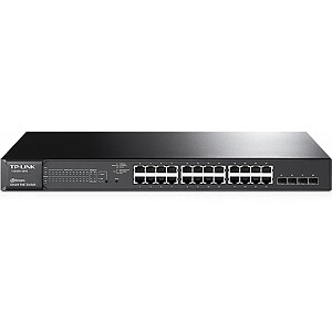 TP-LINK T1600G-28PS, JetStream 24-Port Gigabit Smart PoE+ Switch with 4 SFP Slots