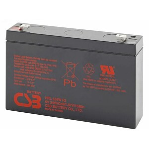 CSB 4 Kit HRL634W 6V/9Ah 34W Battery